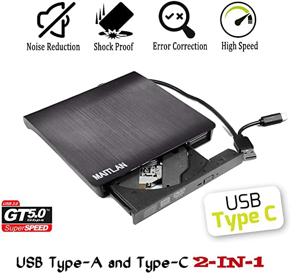 USB 2.0 External CD//DVD Drive for Acer travelmate 3260-4804