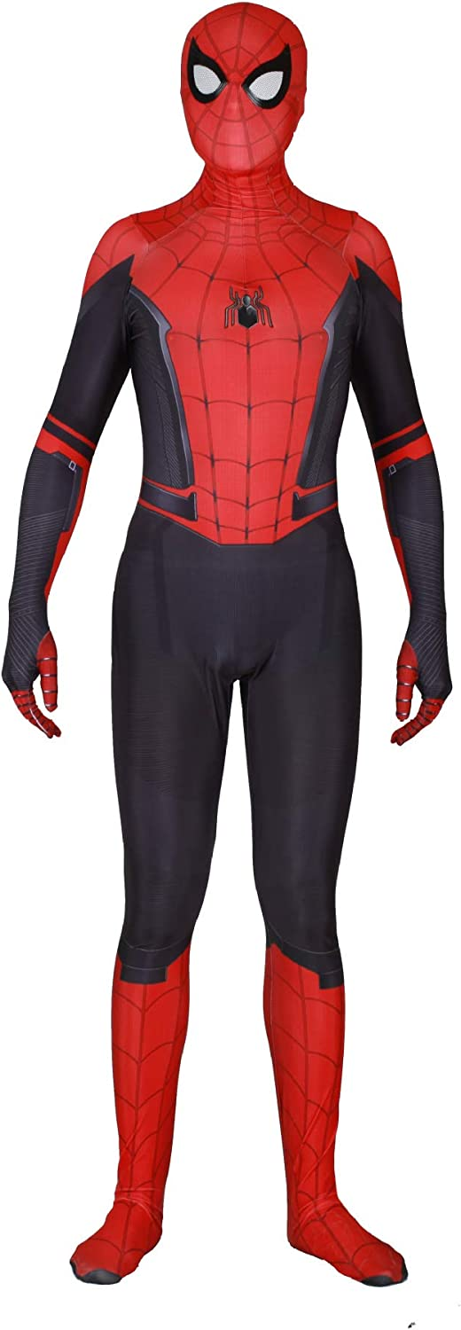 Spider Man Costume,Spider Man Far from Home Suit Cosplay for Men Boys