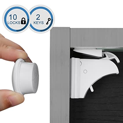 Amazon Com Linkax Magnetic Cabinet Locks Child Safety Drawer Locks