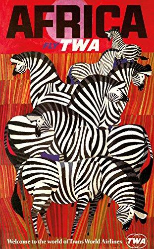 TWA - Africa Vintage Poster (artist: David Klein ) USA c. 1955 (24x36 Giclee Gallery Print, Wall Decor Travel Poster)