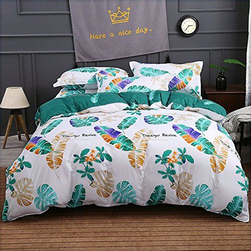 Bedding 4 Pieces Duvet Cover Set Duvet Cover Without Comforter Flat Sheet Pillowcases FD Twin/Full/Queen, Reversible Printing Cartoon Animal Design (Queen, Wizard of Oz, Multi)