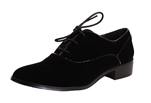 c295010650 Amazon.com | Chelsea Crew Taxi Velvet Oxford, Black | Oxfords