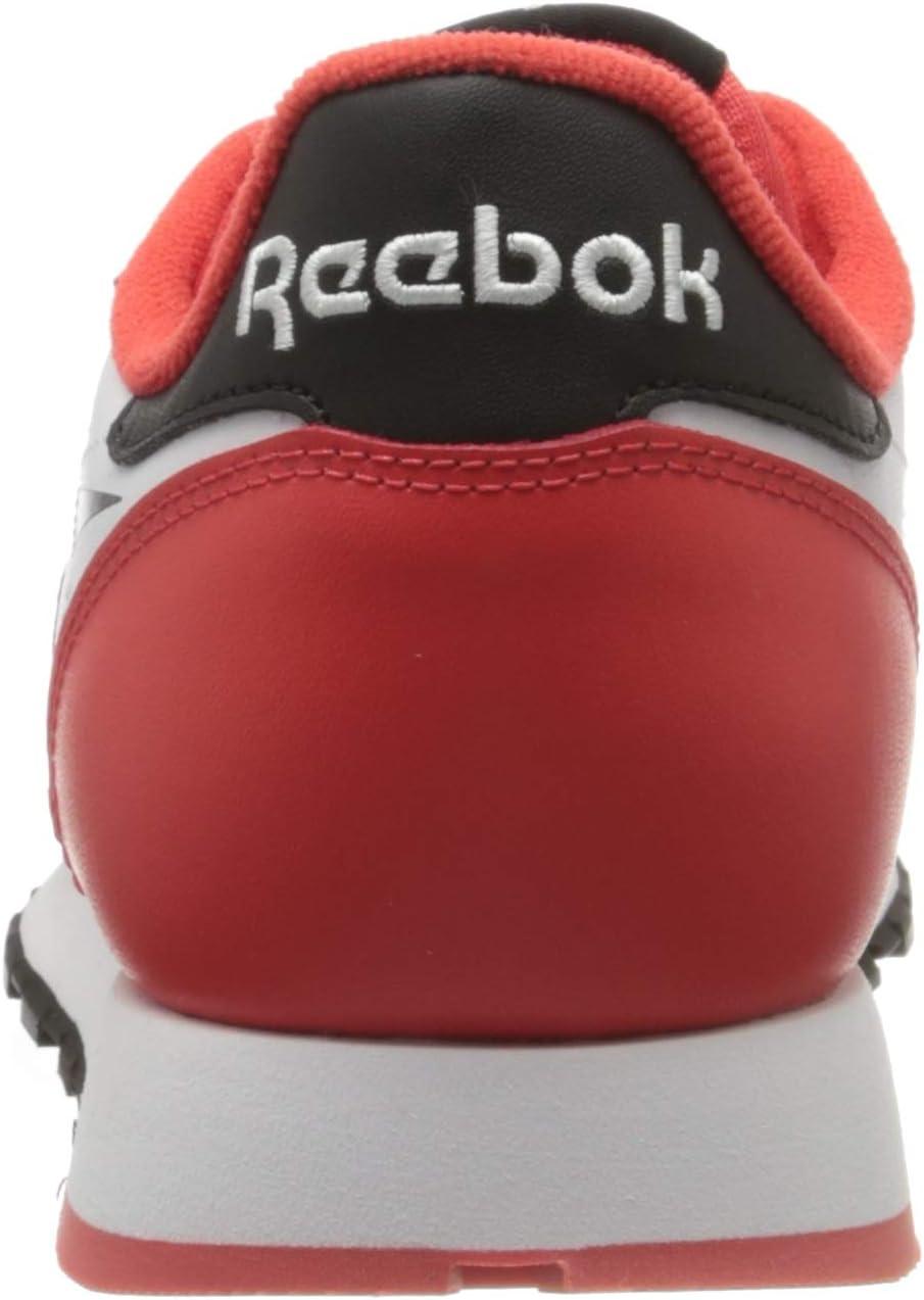 Reebok Cl Leather Mu Gymnastics Shoe, Bianco Black/Radiant Red/White IDWUZNtE