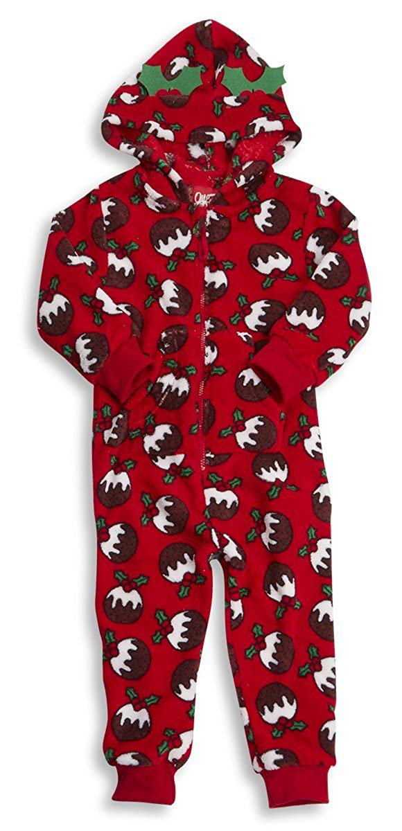 558373146867 ONEZEE Infants Childrens Kids Christmas Onesie Xmas Fleece Pudding ...