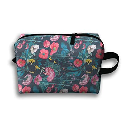 hot sale ODLS7 Red Flowers Travel Multifunction Toiletry Organizers Business Bag Cosmetic Bag Women Men