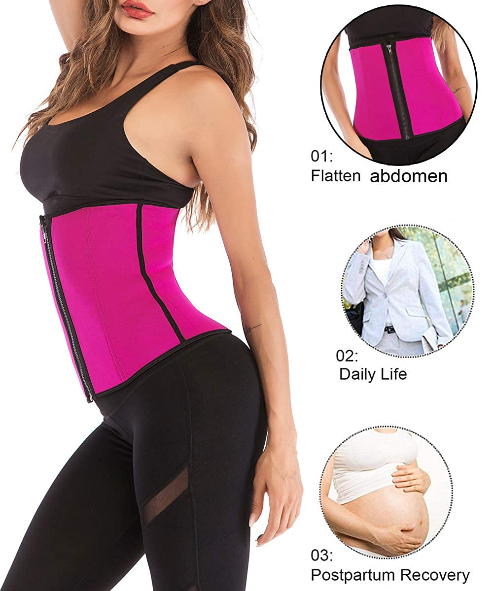 FUT/_Forever Clip and Zip Waist Trainer Corset Women Neoprene Tummy Control Shapewear