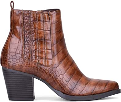 Botines PU 39369 Rene Cuero 37: Amazon.es: Zapatos y complementos