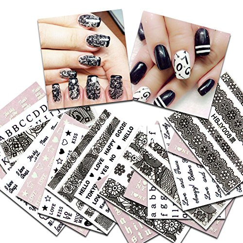 KADS 36pcs/set Nail Transfer Decals Lace&Letters Design for sale  Delivered anywhere in Canada