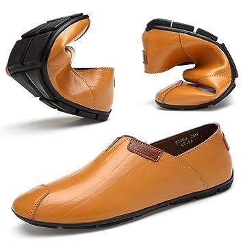 Oudan Zapatillas Mocasines para Hombres, Mocasines de conducción de Moda para Hombres Mocasines cómodos Mocasines Ligeros (Color: marrón Claro, ...