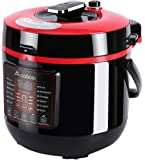 Aobosi Pressure Cooker 6Qt 8-in-1 Electric Multi-cooker,Rice Cooker,Slow Cooker,Yogurt Maker ,Warmer,Free Steamer Rack,Cookbook and Extra Sealing Ring |Food Grade Stainless Steel Cooking Pot