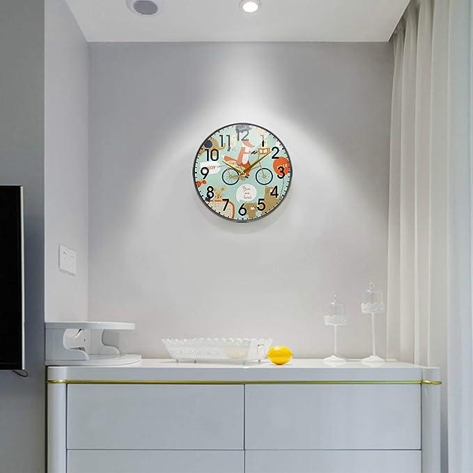 Mnsruu - Reloj de pared con diseño de oso de dibujos animados en ...