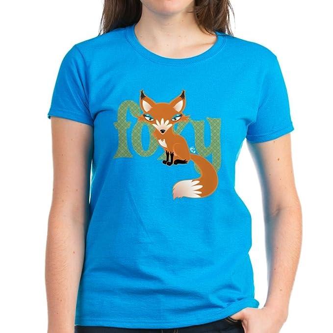 5fcf258e849ca0 Amazon.com  CafePress - Foxy Red Women s Dark T-Shirt - Womens ...