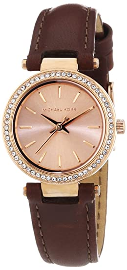 Michael Kors MK2353 Ladies Darci Brown Leather Strap Watch