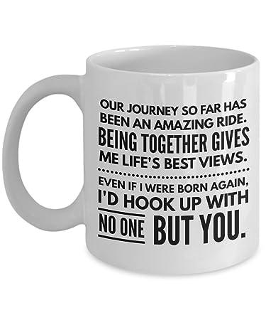 Amazoncom Life Partner Gift Coffee Mug Anniversary Present