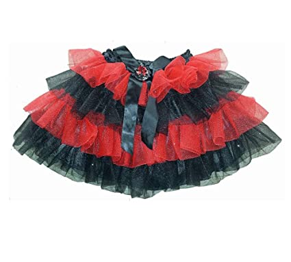 b12a8c5c5ea7a Amazon.com: Just Pretend by Wyla Red Black Play Tutu Dance Skirt ...