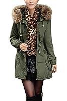 iLoveSIA (アイラブシア) レディーズ コート 防寒服 ジャケット ハーフ丈 長袖 裏ボア フード付き