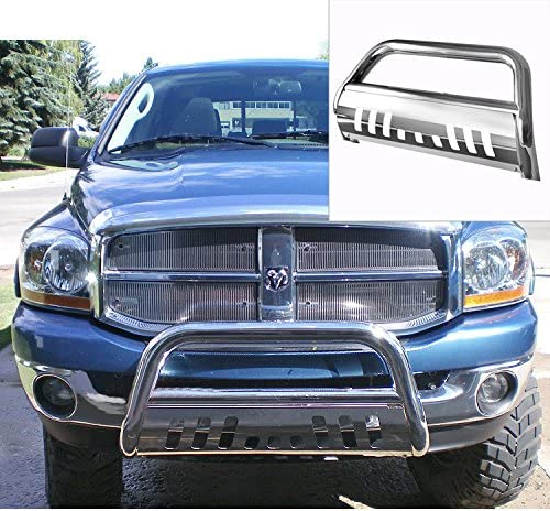 Gldifa Compatible with 09-16 Dodge Ram 1500 Pickup Chrome S//S Bull Bar Front Bumper Grill Guard