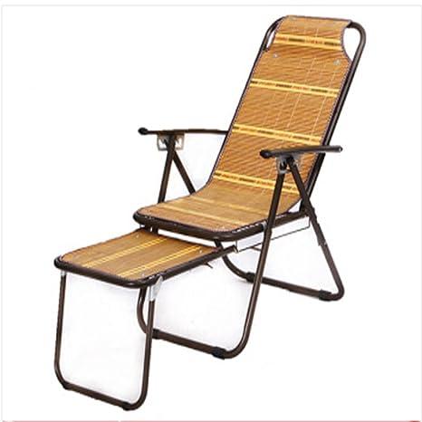 Yhz@ Tumbona Silla de bambú Silla reclinable Silla de ...
