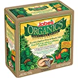 Jobe's Organics Tree Fertilizer Spikes, 5-5-5 Time Release Fertilizer for All Shrubs & Trees, 10 Spikes per Package