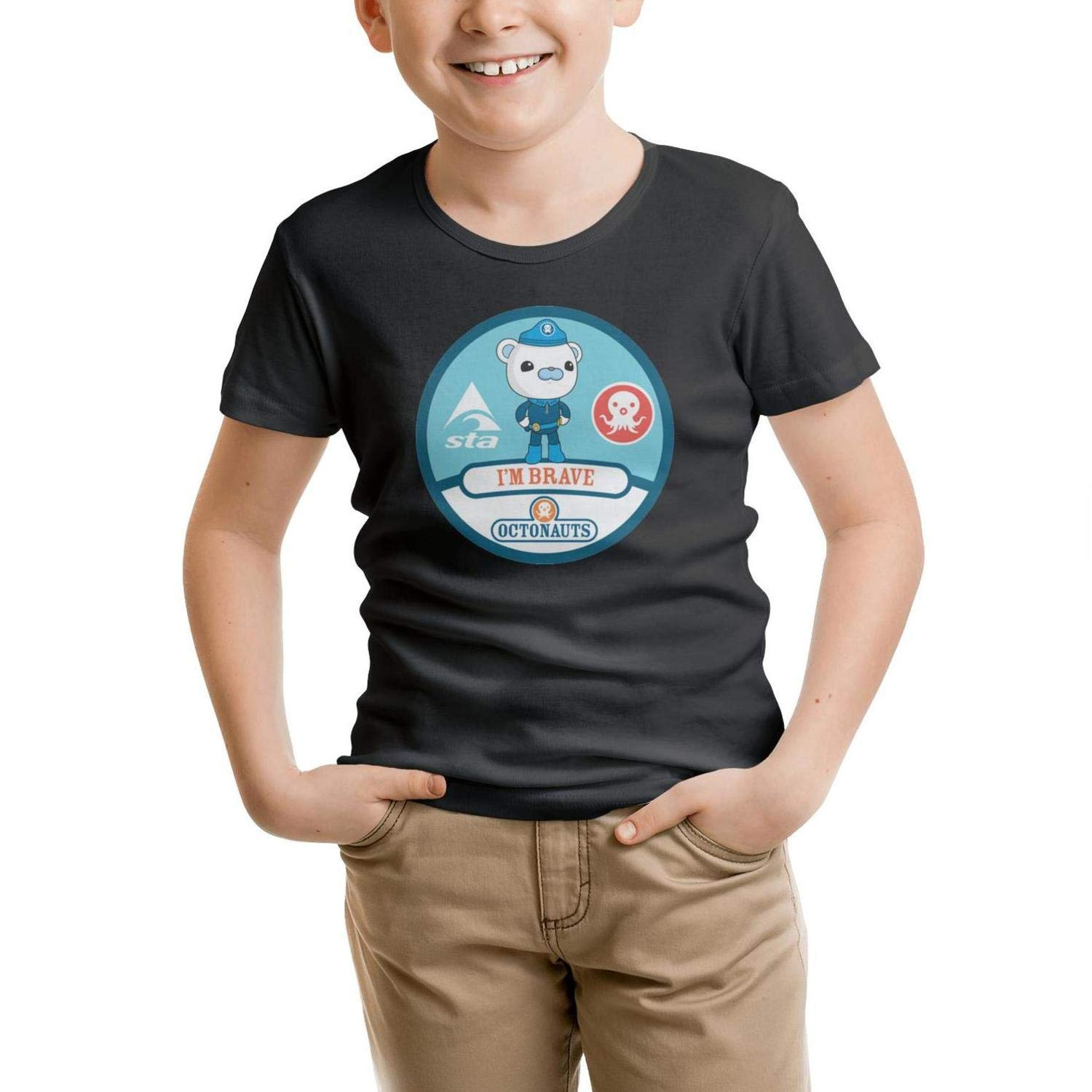 ZZYNG Short Sleeve Boys T-ShirtSoftcomfort Crew Neck Friends Tee Breathable