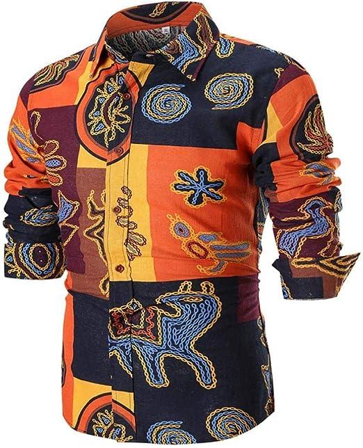 HhGold Camisas para Hombre Top de Manga Larga Casual Slim Fit Rockabilly Floral Patrón Personalizado Botón Algodón Polo Coloreado Blusa XXL XXL XXXXL (Color : Negro, tamaño : XXXX-Large): Amazon.es: Hogar