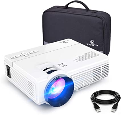 VANKYO LEISURE 3 Mini Projector, 1080P and 170 Display Supported, 3600L Portable Movie Projector with 40,000 Hrs LED Lamp Life, Compatible with TV ...
