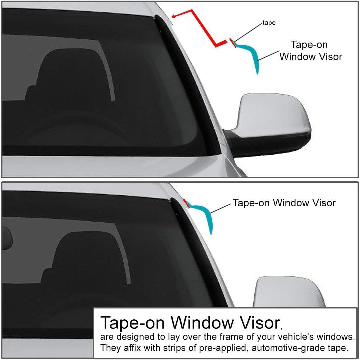 Dark Smoke DNA Motoring WVS-103 4pcs Window Vent Visor Deflector Rain Guard