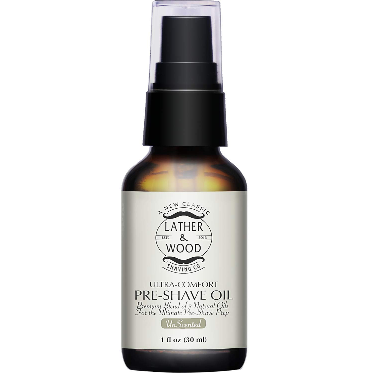 Lather & Wood Shaving Unscented Pre-Shave Oil - 1