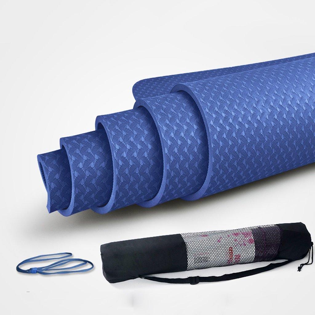 Dünne Übungsmatten Für Hauptgymnastik, mit Taschen und Bügel, Anti-Riss-Yoga Pilates-Matte mit Hoher Dichte Für Innenim Freien