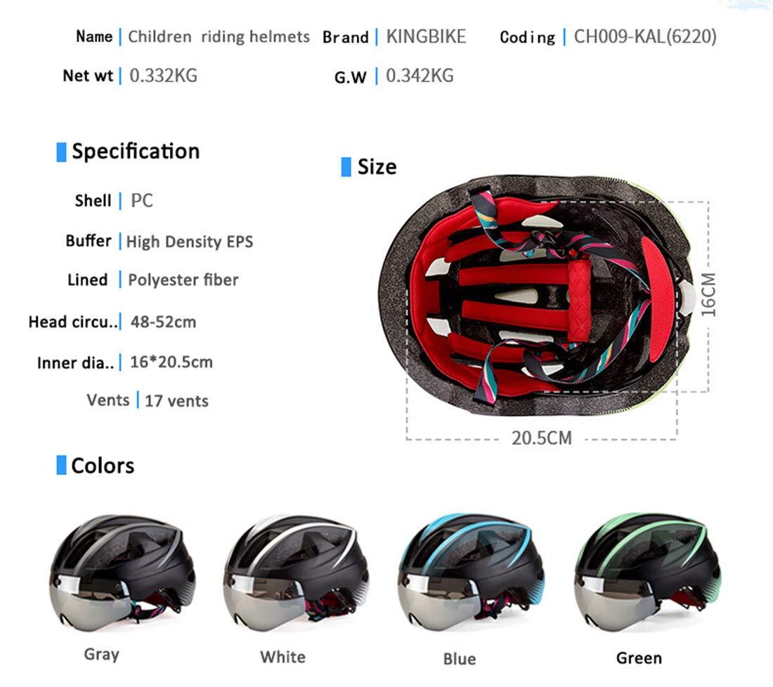 Casco de Bicicleta para Hombre Deporte Cascos para Adultos Casco de Bicicleta al Aire Libre Equipo con Visera Desmontable Gafas