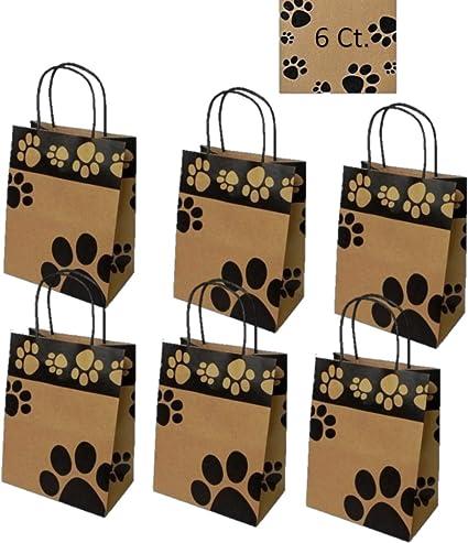 Amazon.com: Perro bolsas de regalo bolsas de huellas de 6 ...