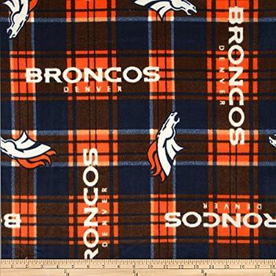 NFL Fleece Denver Broncos Fabric By The Yard