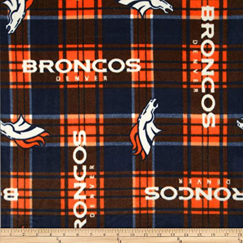 Fabric Traditions 0360657 NFL Fleece Denver Broncos Fabric by The Yard, Multi