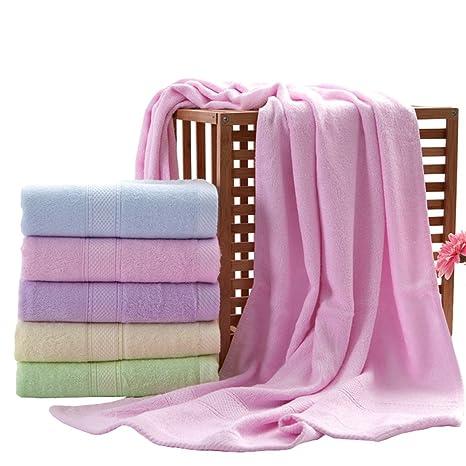 zhenxinmei Juego de 5 Super suave estructura de fibra de bambú toalla toallas de baño color, ...
