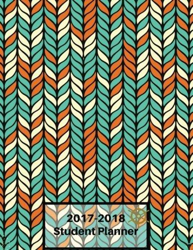 2017-2018Student planificador: Verde y Naranja Seamless funda: Student semanal y mensual planificador: Grande 21,6x...