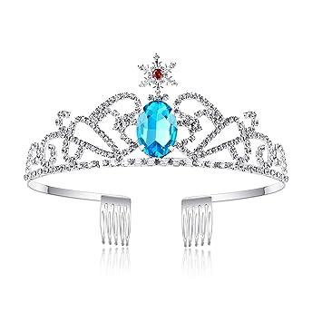 Princess Crown Icy blue Elsa Inspired Glittery Trinket Box
