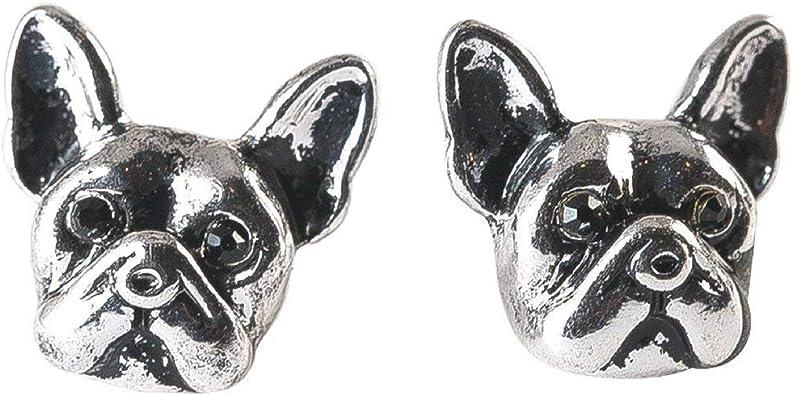 Boucles d/'Oreilles Chien BOULEDOGUE FRANCAIS Earrings FRENCH BULLDOG