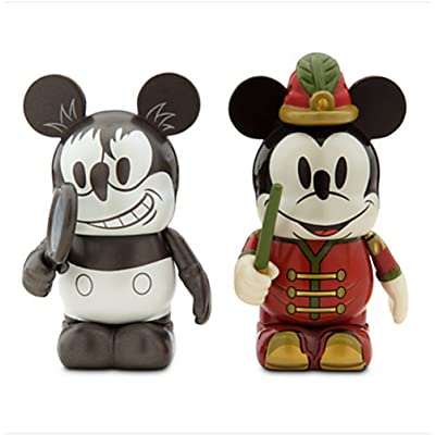 Vinylmation Mickey Through the Years 3'' Figure Set - Plane Crazy and The Band Concert by Mickey Mouse: Toys & Games