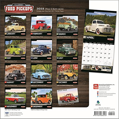 Classic Cars Calendars 2018 - Deluxe Wall Calendar with Foil (12x12) (Classic Ford Pickups Calendar 2018) Photo #2