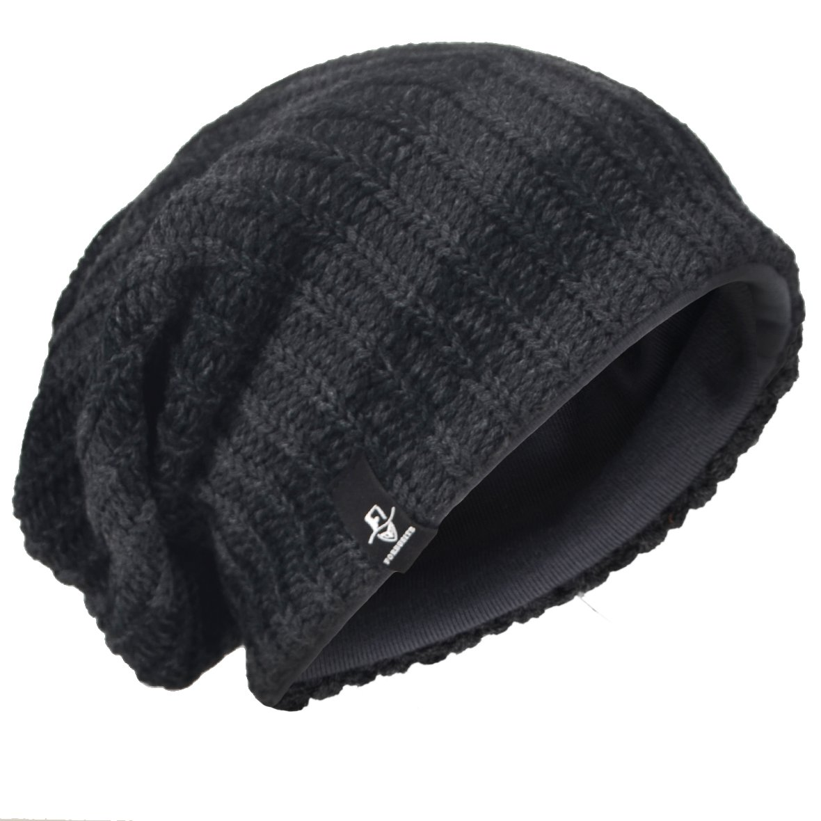 JESSE /· RENA Men Slouchy Beanie Knit Skull Cap Lined Baggy Winter Hat Oversized CFB08