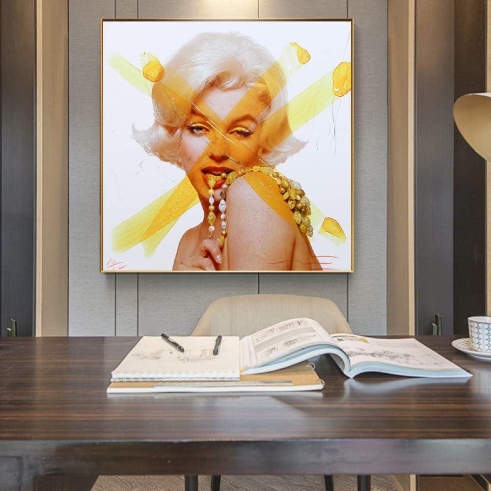 tzxdbh Andy Warhol Imágenes Carteles Arte de la Pared Pintura Impresiones en Lienzo Cuadros Promoción Sin Marco Impresiones para Sala de Estar en Pintura y caligrafía de 24x24cm con Marco
