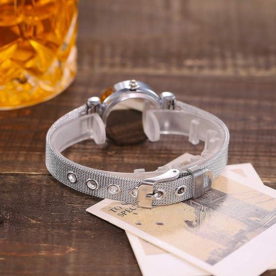 JiaMeng Classic Reloj Reloj Analógico de Cuarzo Banda de Acero Inoxidable Casual Banda de Reloj analógico de Pulsera (Silver1): Amazon.es: Ropa y accesorios