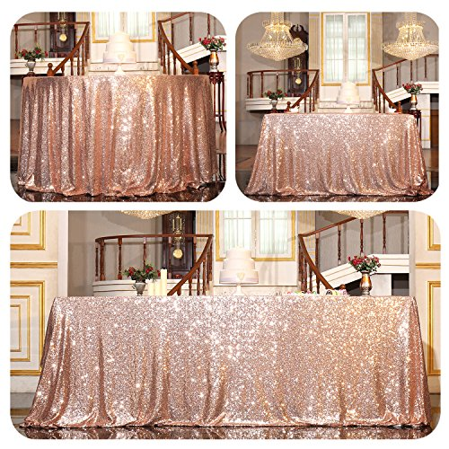 PartyDelight Sequin Tablecloth, Rectangular, 50