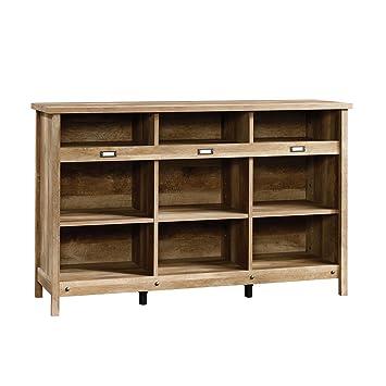 Sauder 418344 Storage Cabinet, Furniture Adept Credenza, Craftsman Oak