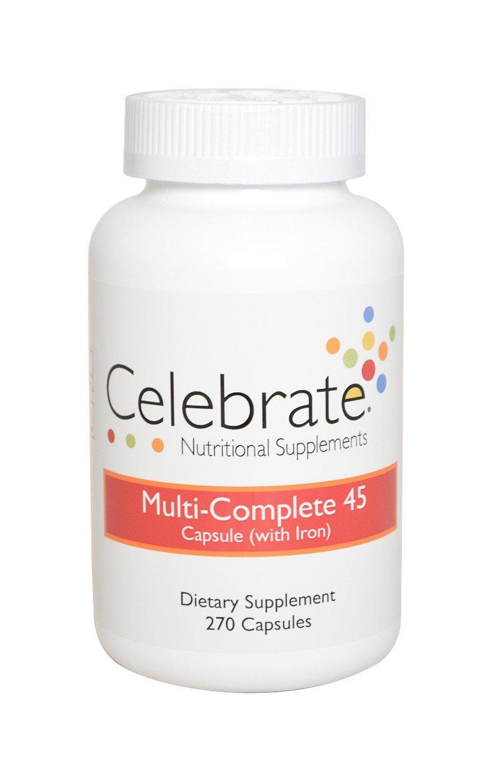 Celebrate Multi-Complete 45 Capsules 270 Count Bottle