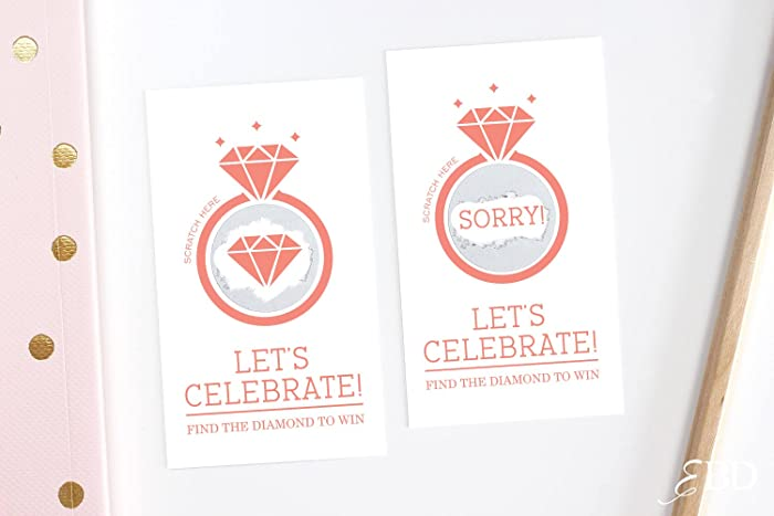 10 bridal shower scratch off game cards