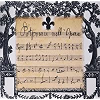 3dRose LLC 8 x 8 x 0.25 Inches Mouse Pad, Print of French Vintage Music Sheet With Fleur De Lis and Scrolls - (mp_182535_1)