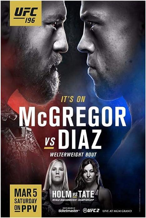 Conor Mcgregor vs Nate Diaz 2 Silk Poster Print 13×20 24x36 inch