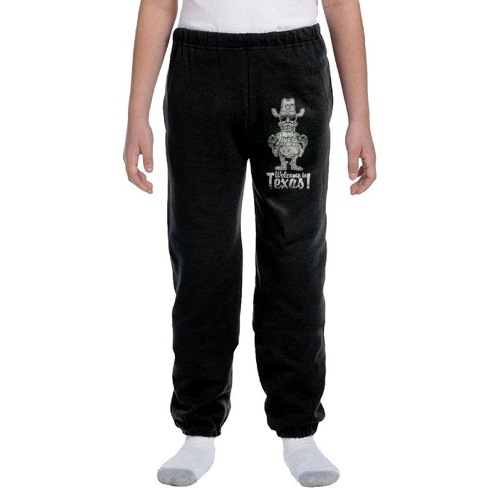 DENRA SANLENG The Childrens BoysSKULL COOL Gym Uniform Fleece Pant