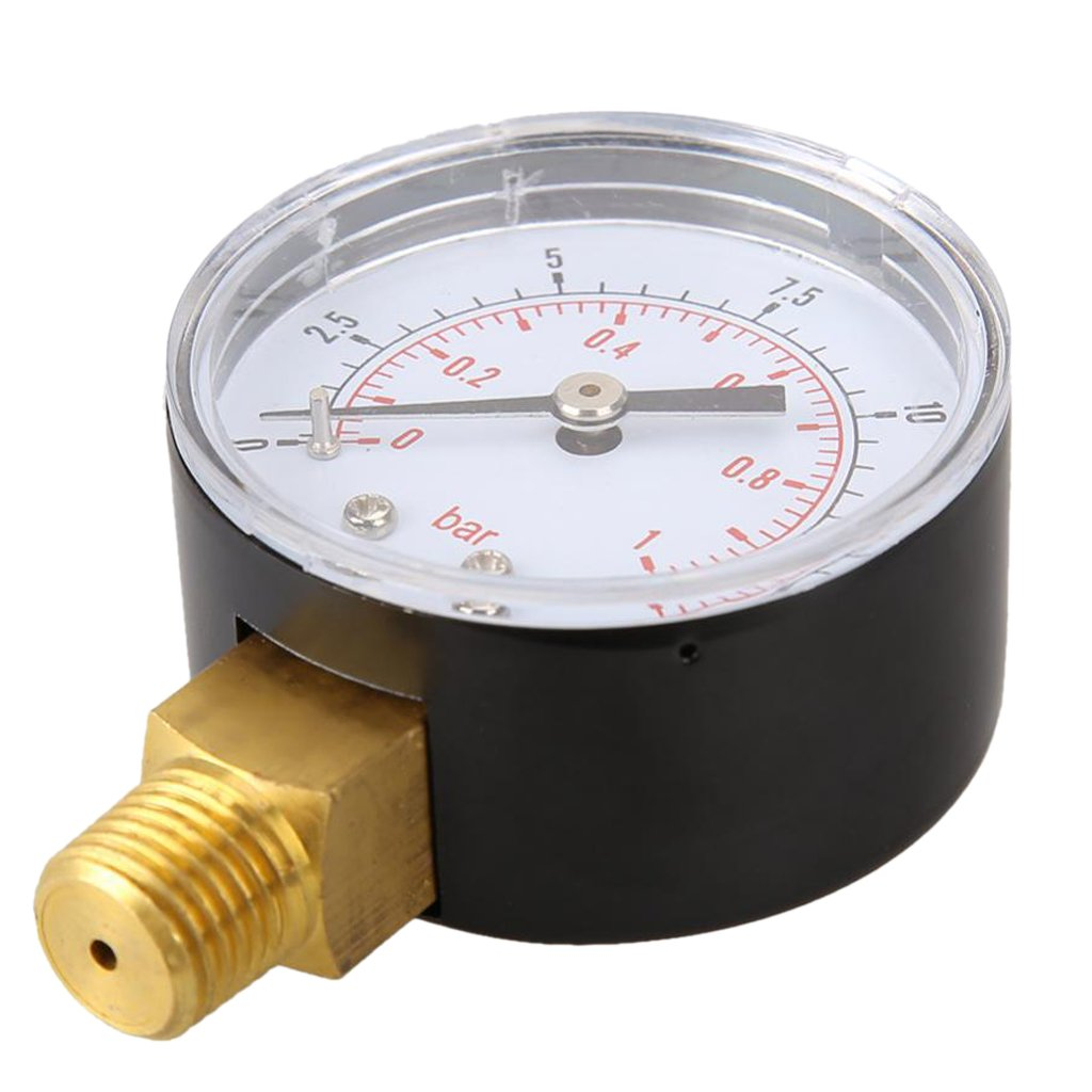 Fenteer 0-15 psi Pressure Gauge Pressure Manometer Water Oil Air Pressure Liquid Air Compressor Pressure 1.97x2.76x1.09 inch